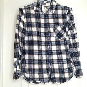 Garage Flannel Shirt Boyfriend Fit XS
